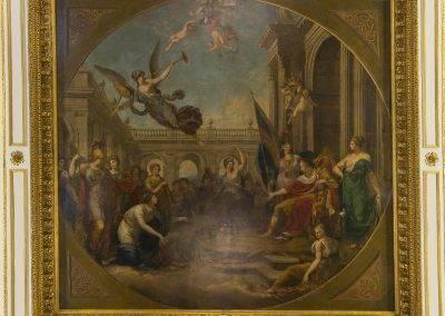 King George III flanked by Britannia and Hibernia
