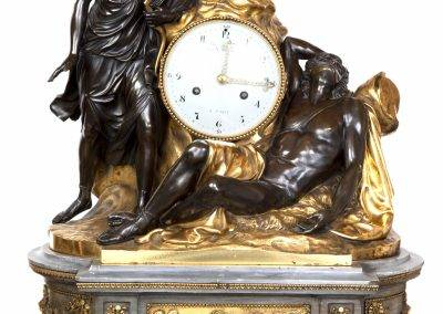 Louis XVI clock depicting Diana, Cupid and Endymion